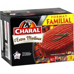 Steaks hachés 15% MG Charal