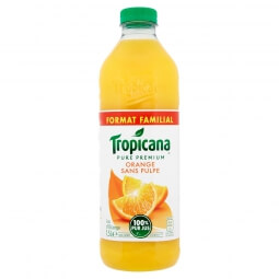 Jus d'orange sans pulpe Tropicana
