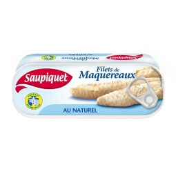 Filets de maquereaux au naturel Saupiquet