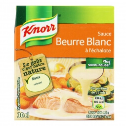 Sauce beurre blanc échalote Knorr