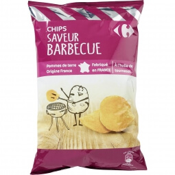 Chips saveur barbecue Carrefour