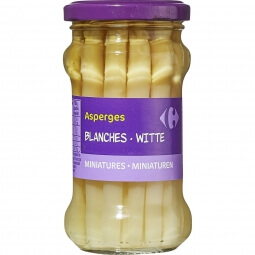 Asperges blanches miniatures Carrefour