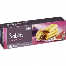 Biscuits sablés figue Carrefour