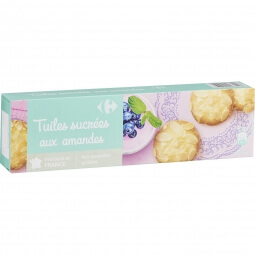 Biscuits tuiles amandes Carrefour