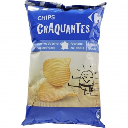 Chips craquantes Carrefour